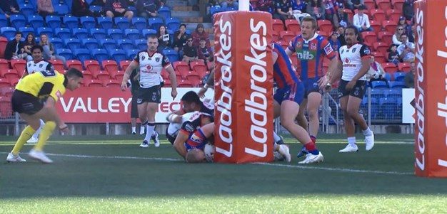Rd 22: Knights v Warriors - Try 10th minute - Mitchell Barnett