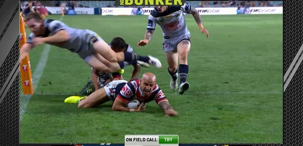 FW 3: Roosters v Cowboys - Try 61st minute - Blake Ferguson