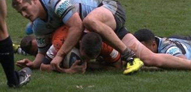 Full Match Replay: Wests Tigers v Cronulla-Sutherland Sharks (2nd Half) - Round 26, 2014