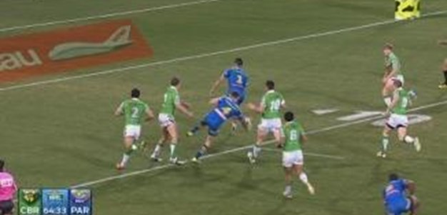 Rd 26: TRY Jarryd Hayne (65th min)