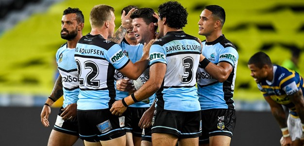 Sharks notch first win as Hayne hurt for Eels