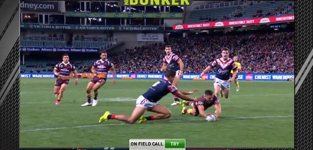FW 1: Roosters v Broncos - Try 37th minute - James Roberts