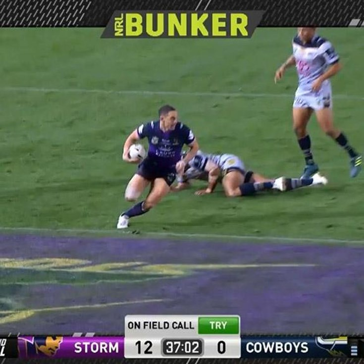 Grand Final: Storm v Cowboys - Try 38th minute - Billy Slater