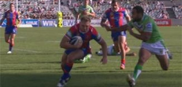 Full Match Replay: Canberra Raiders v Newcastle Knights (1st Half) - Round 9, 2013