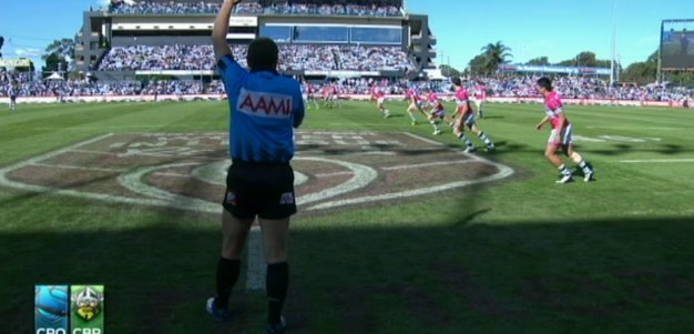Full Match Replay: Cronulla-Sutherland Sharks v Canberra Raiders (1st Half) - Round 10, 2013