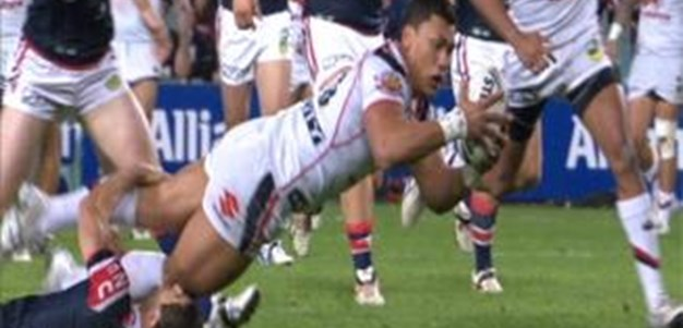 Full Match Replay: Sydney Roosters v Warriors (1st Half) - Round 14, 2013