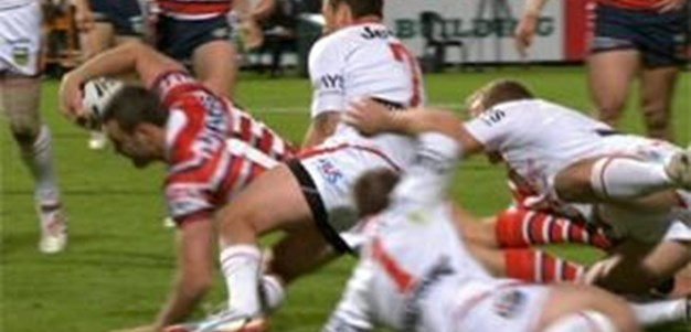 Full Match Replay: St George-Illawarra Dragons v Sydney Roosters (1st Half) - Round 17, 2013