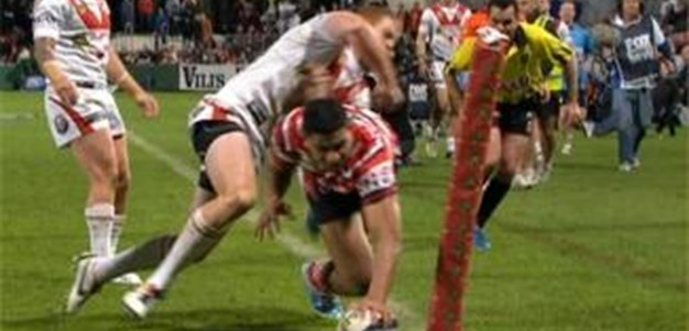 Full Match Replay: St George-Illawarra Dragons v Sydney Roosters (2nd Half) - Round 17, 2013