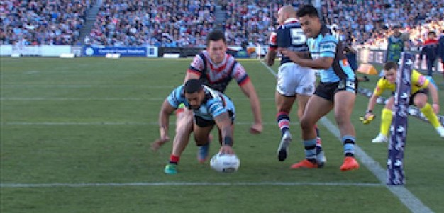 Full Match Replay: Sydney Roosters v Cronulla-Sutherland Sharks (2nd Half) - Round 17, 2017