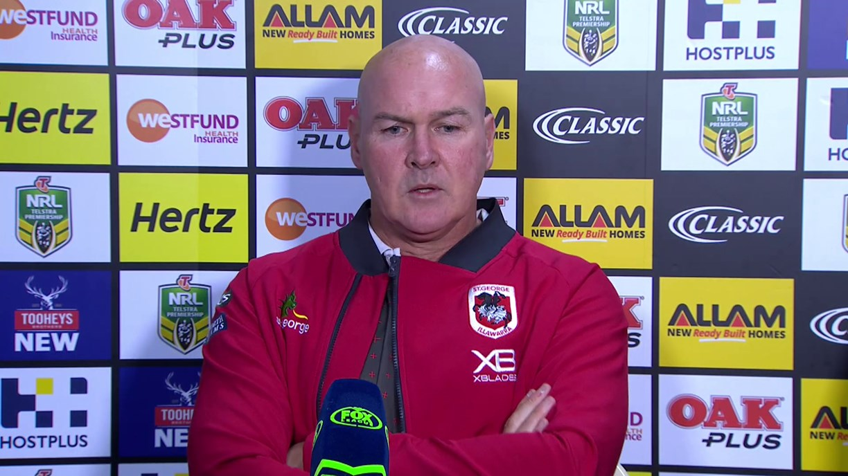 Dragons press conference - Round 12