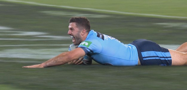 Tedesco scores Blues' first try in Origin I