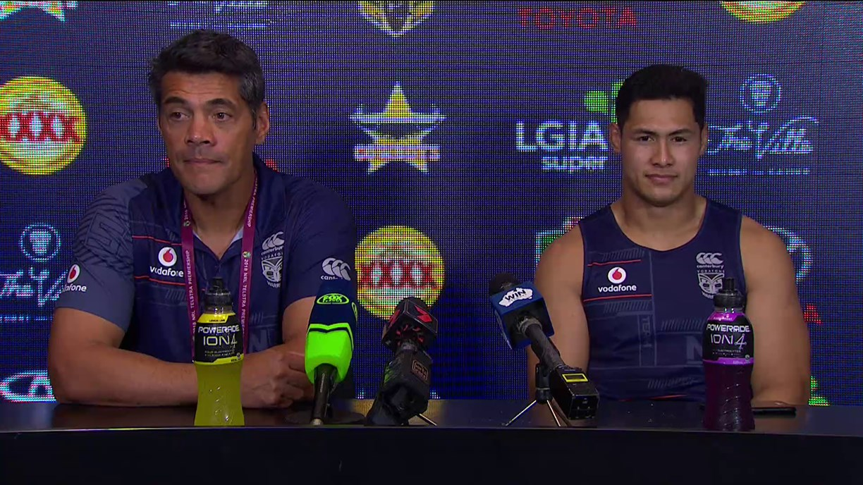 Warriors press conference - Round 15