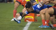 Gavet opens the scoring for Samoa