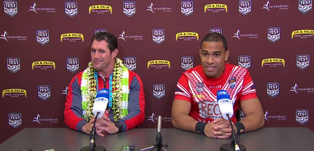Tonga press conference - Pacific test; 2018