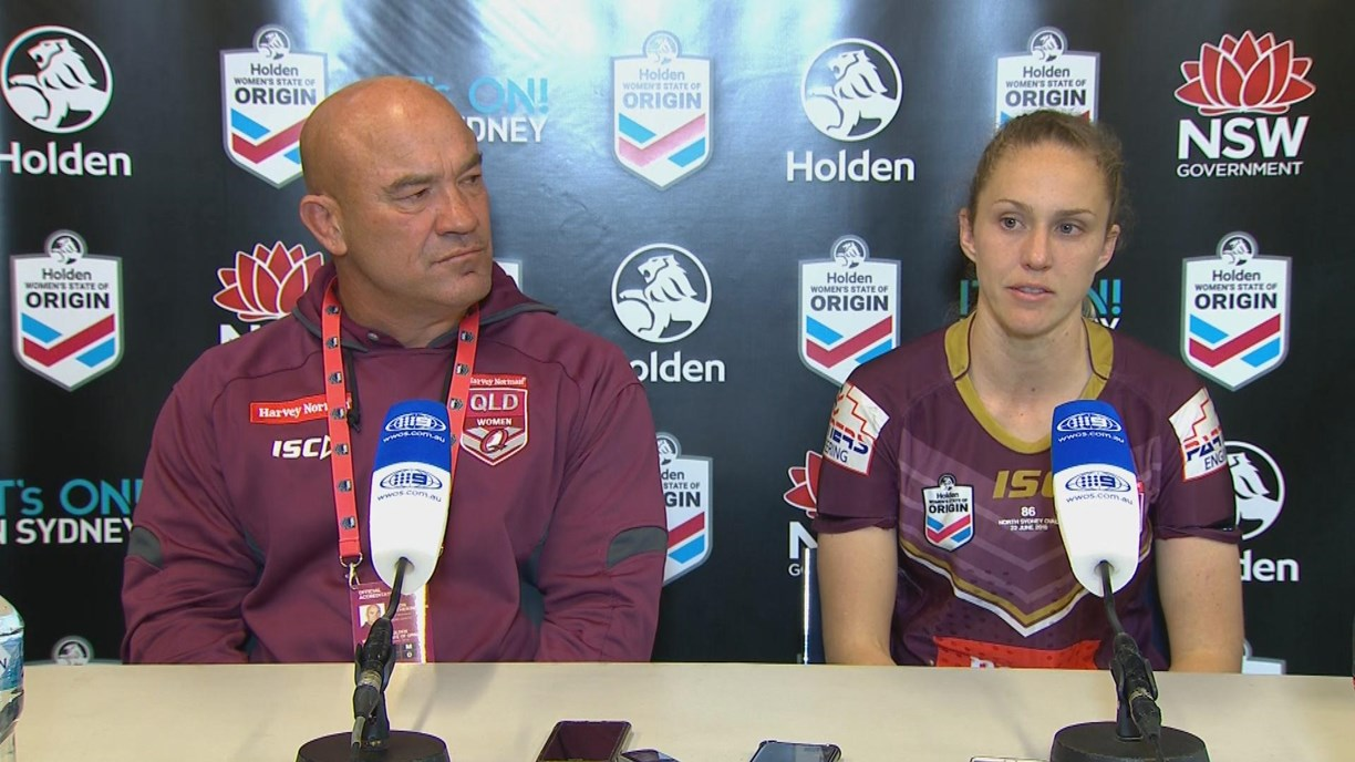 Maroons press conference - Women's State of Origin