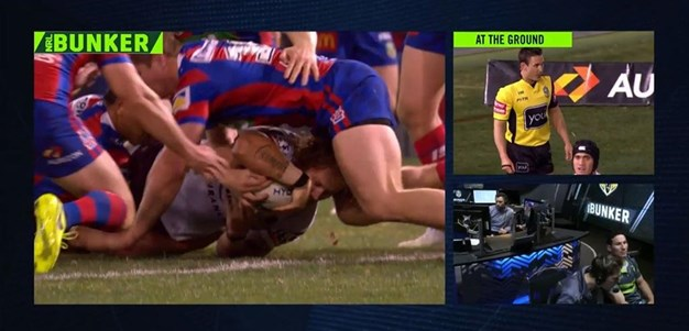 Rd 19: Knights v Broncos - No Try 10th minute - Korbin Sims
