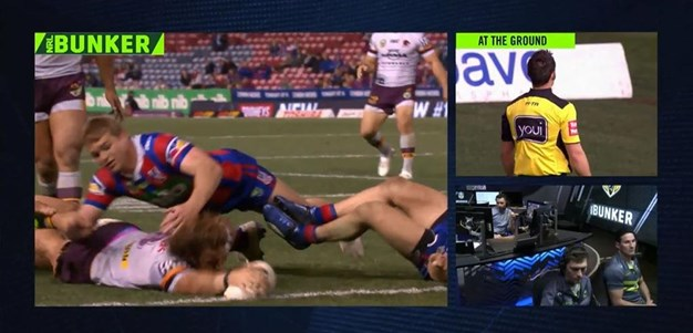 Rd 19: Knights v Broncos - Try 69th minute - Korbin Sims