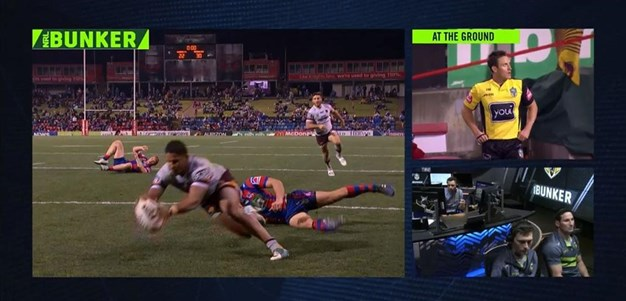 Rd 19: Knights v Broncos - Try 76th minute - Jonus Pearson