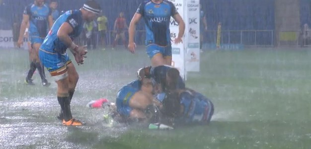 Rd 19: Titans v Sharks - No Try 28th minute - Gerard Beale