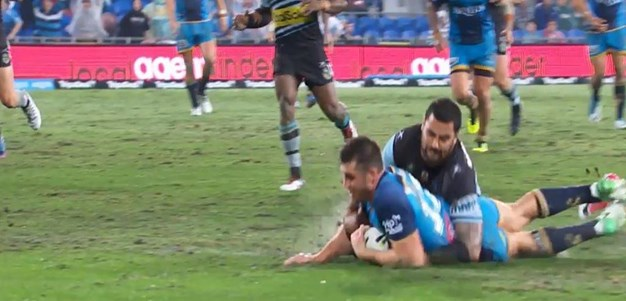 Rd 19: Titans v Sharks - Try 60th minute - Joe Greenwood