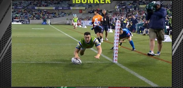 Rd 19: Raiders v Dragons - Try 6th minute - Nick Cotric