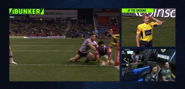 Rd 19: Knights v Broncos - Try 55th minute - Chanel Mata'utia
