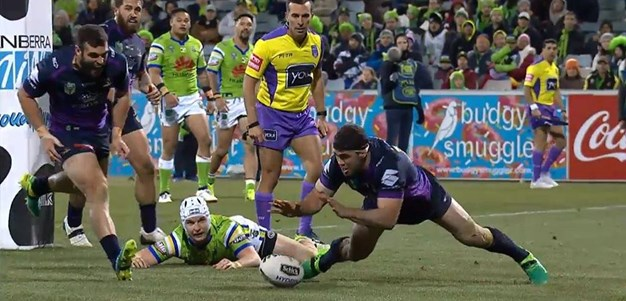 Rd 20: Raiders v Storm - Try 69th minute - Dale Finucane
