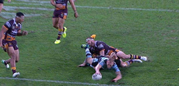 Full Match Replay: Brisbane Broncos v Cronulla-Sutherland Sharks (1st Half) - Round 23, 2017
