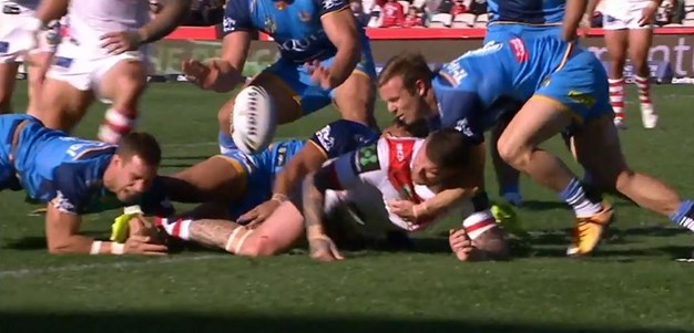 Rd 23: Dragons v Titans - No Try 13th minute