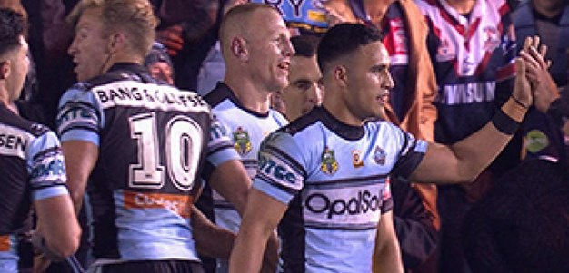 Full Match Replay: Cronulla-Sutherland Sharks v Sydney Roosters (2nd Half) - Round 25, 2017