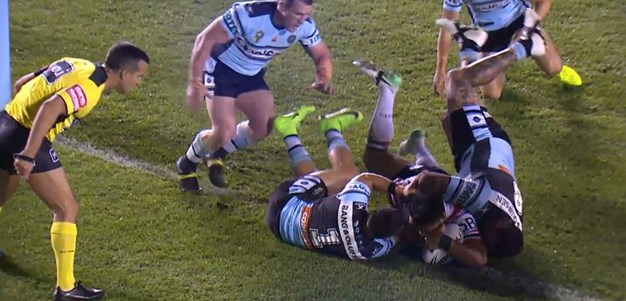 Rd 25: Sharks v Rooster - Try 16th minute - Isaac Liu