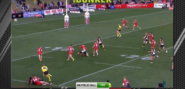 Rd 25: Panthers v Dragons - Try 50th minute - Josh Mansour