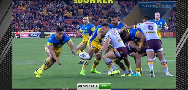 Rd 25: Broncos v Eels - Try 1st minute - Kirisome Auva'a