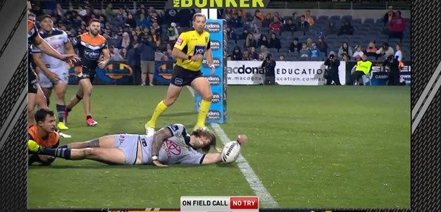 Rd 25: Tigers v Cowboys - No Try 71st minute
