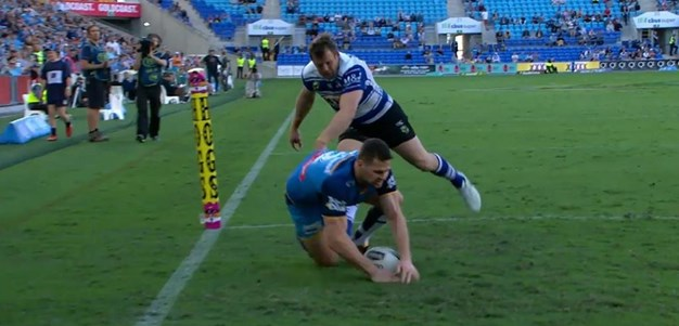 Rd 25: Titans v Bulldogs - Try 53rd minute - Anthony Don