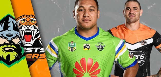 Raiders v Wests Tigers - Round 22