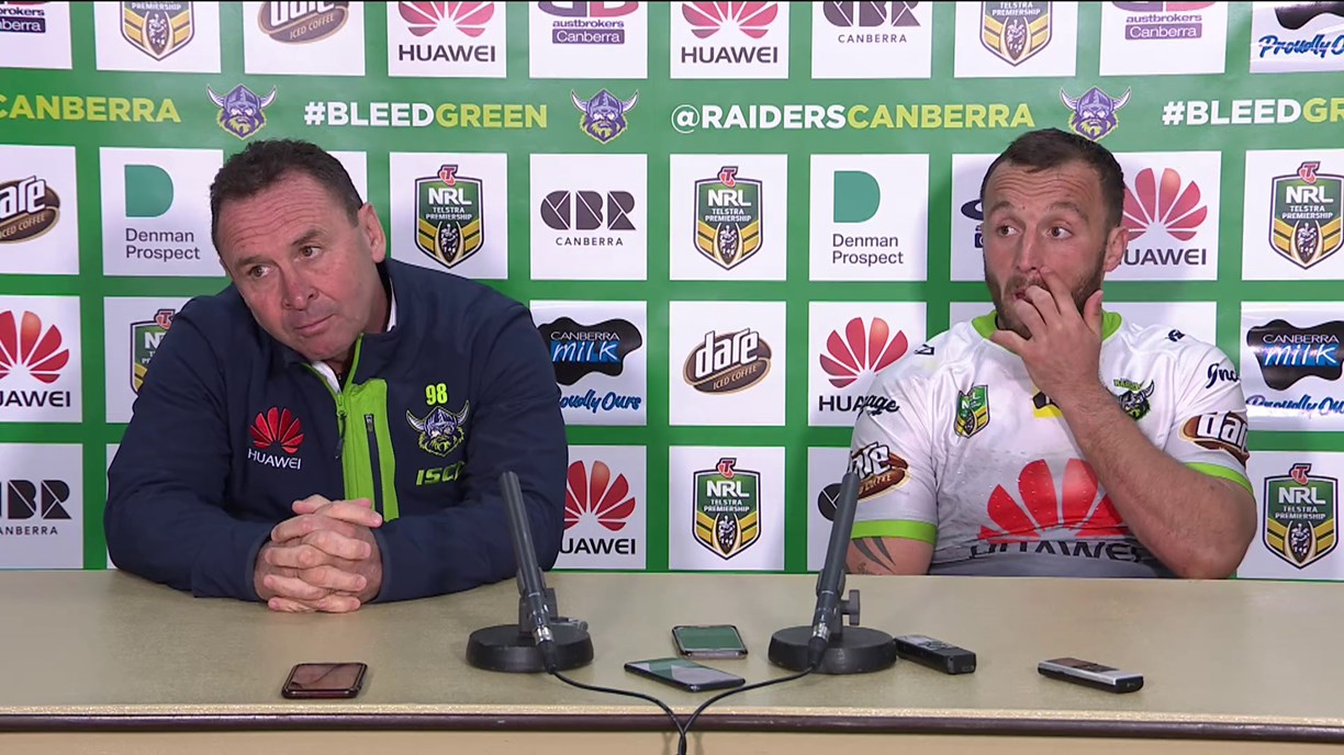 Raiders press conference: Round 22, 2018