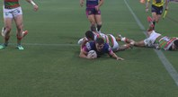 Oates scores Broncos first try