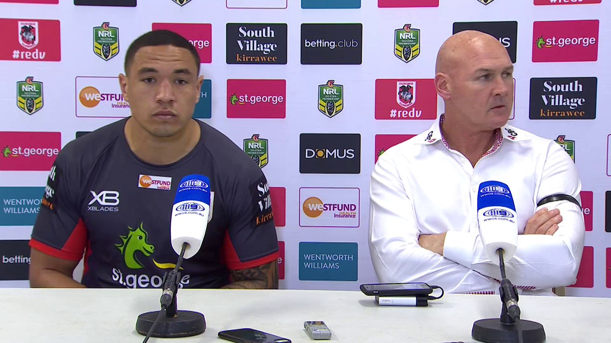 Dragons press conference: Round 24, 2018