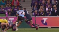 Slater's shoulder charge on Feki