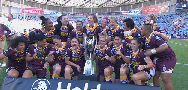 Broncos lift inaugural Holden Women's Premiership trophy
