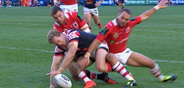 Full Match Replay: Sydney Roosters v St George-Illawarra Dragons (1st Half) - Round 24, 2016