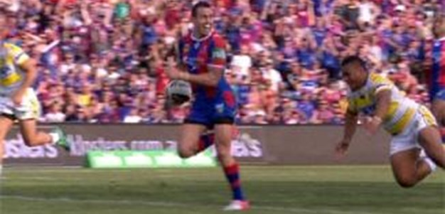 Full Match Replay: Newcastle Knights v Parramatta Eels (1st Half) - Round 26, 2013