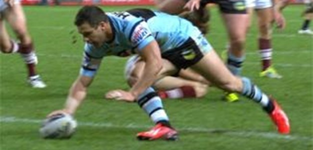 Full Match Replay: Manly-Warringah Sea Eagles v Cronulla-Sutherland Sharks (1st Half) - Semi Final, 2013