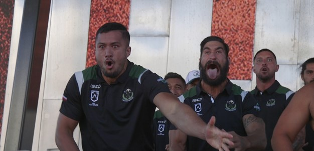 Maori set scene for All Stars with haka