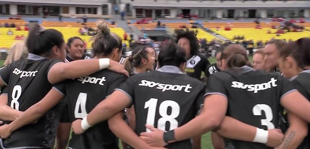 Kiwi Ferns perform Haka