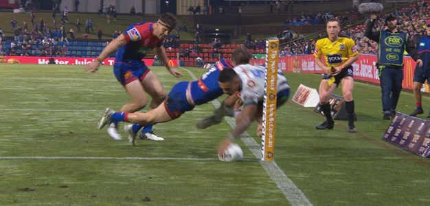 Maumalo double wrestles lead back for Warriors