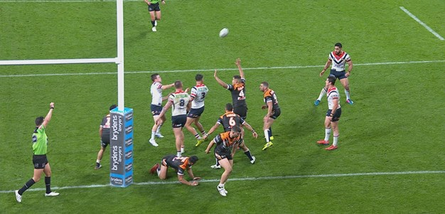 Keary uses the skyhook to send Tupou in