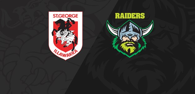 Full Match Replay: Dragons v Raiders - Round 17, 2019