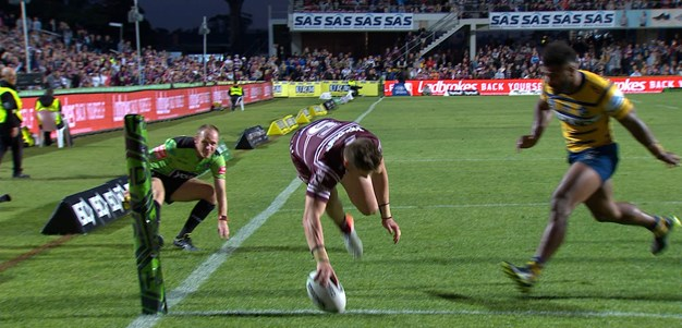 Garrick notches hat-trick as Sea Eagles run riot